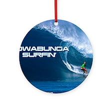 Calender Surfing 4 Round Ornament