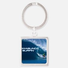 Calender Surfing 4 Square Keychain