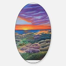 Butte-eful Sunset shirt Sticker (Oval)