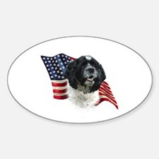 Cocker Flag Oval Decal