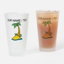 Custom Palm Tree Drinking Glass