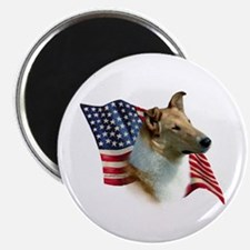 Collie Flag Magnet
