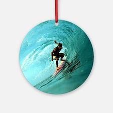 Calender Surfing 2 Round Ornament