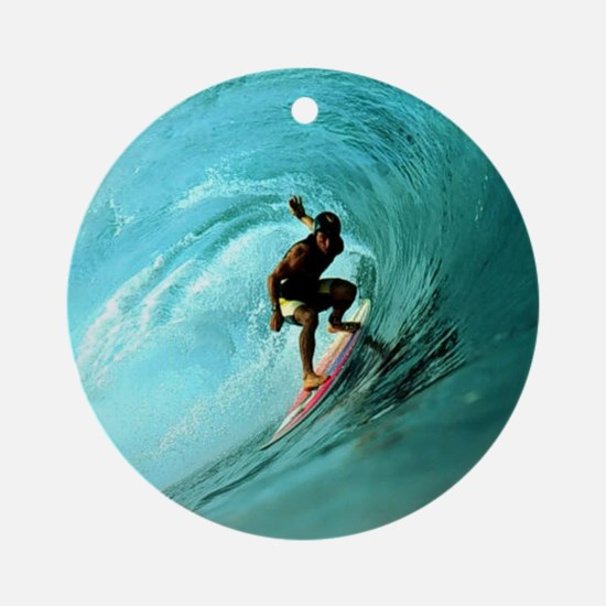 Calender Surfing 2 Round Ornament