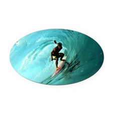 Calender Surfing 2 Oval Car Magnet