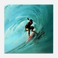 Calender Surfing 2 Tile Coaster