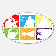 SciFiHeroes_Monsters Sticker (Oval)