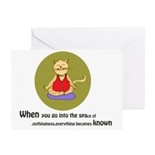 Yoga Cat- Diffused- Back Greeting Card