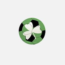 Soccer Shamrock Mini Button