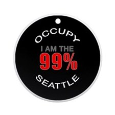 occupy-seattle Round Ornament