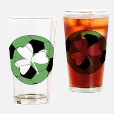 Soccer Shamrock Drinking Glass