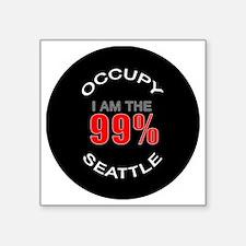 """occupy-seattle Square Sticker 3"""" x 3"""""""