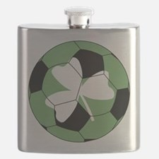 Soccer Shamrock Flask
