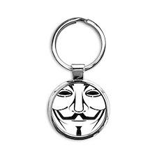 Fawkesmask Round Keychain