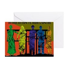 Revolution is Horizontal Greeting Card