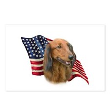 Dachshund Flag Postcards (Package of 8)