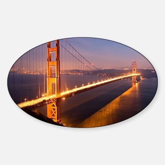 9x12_FramedPanelPrint_nightGGB1229 Sticker (Oval)