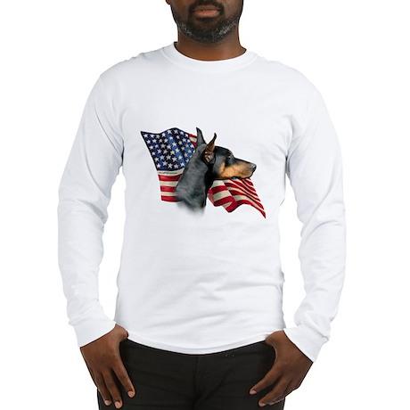 Doberman Flag Long Sleeve T-Shirt