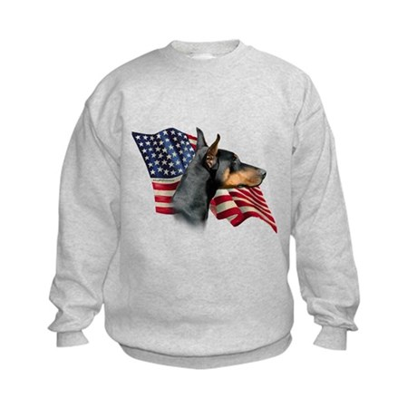 Doberman Flag Kids Sweatshirt
