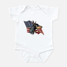 Doberman Flag Infant Bodysuit