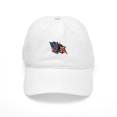 Doberman Flag Cap