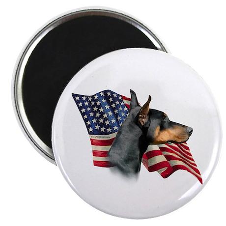 Doberman Flag Magnet