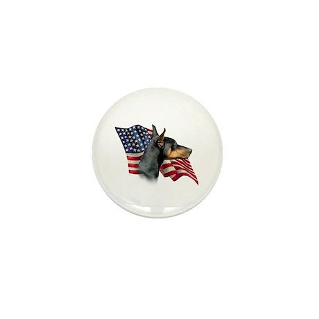 Doberman Flag Mini Button