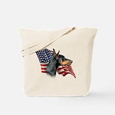Doberman Flag Tote Bag