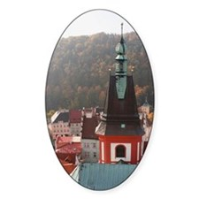 City of Loket. The view of old town Decal