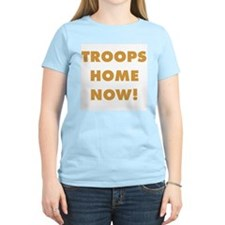 Troops Home Now! Women's Yellow T-Shirt
