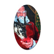santa claus 6_poster 35x21 Oval Wall Decal