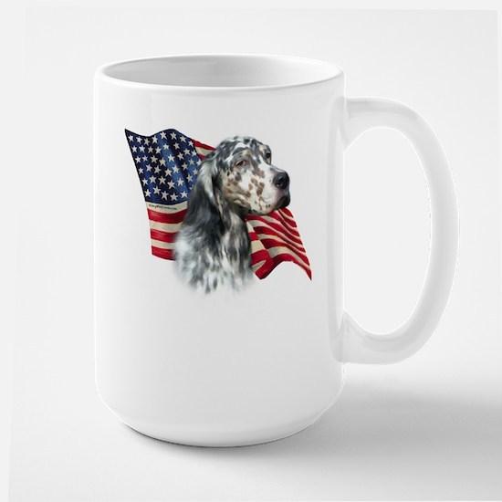 English Setter Flag Large Mug