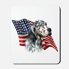 English Setter Flag Mousepad