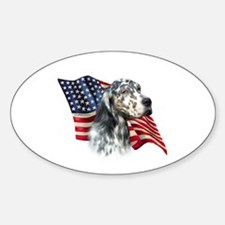 English Setter Flag Oval Decal