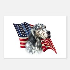 English Setter Flag Postcards (Package of 8)