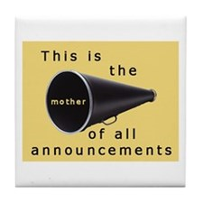 Pregnancy announcement Tile Coaster