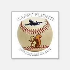 "Happy flight copy Square Sticker 3"" x 3"""