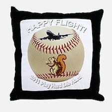 Happy flight copy Throw Pillow
