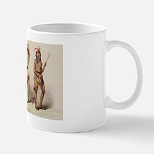 Three Indians with lacrosse sticks Mug