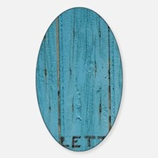 Valensole. Mail slot in blue painte Sticker (Oval)