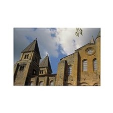 France: Conques, Benedictine Abbe Rectangle Magnet