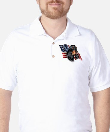 Gordon Setter Flag Golf Shirt