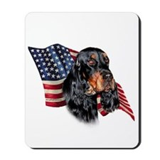 Gordon Setter Flag Mousepad