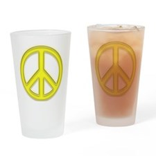 peaceGlowYellow Drinking Glass