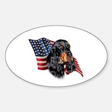 Gordon Setter Flag Oval Decal