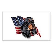 Gordon Setter Flag Rectangle Decal