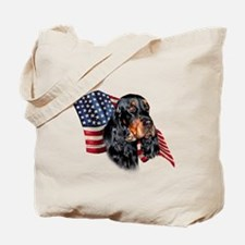 Gordon Setter Flag Tote Bag