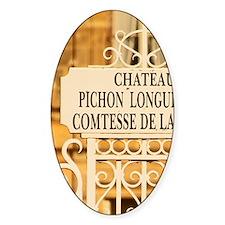 The Chateau Pichon Longueville comt Decal