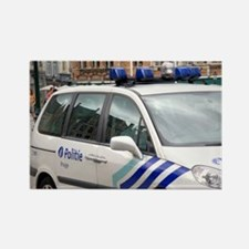 City police vehicle at Bruges in  Rectangle Magnet