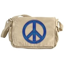peaceGlowBlue Messenger Bag